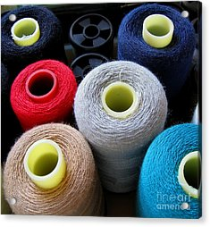 Spools Of Yarn Acrylic Print