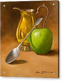 Spoon And Creamer  Acrylic Print by Joni Dipirro