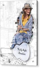Spoon Lady And The Rounders Acrylic Print by John Haldane
