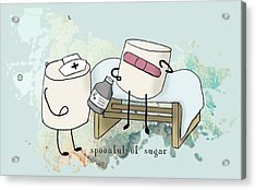 Acrylic Print featuring the digital art Spoonful Of Sugar Words Illustrated  by Heather Applegate
