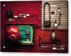 Spoons, Locks And Keys Acrylic Print