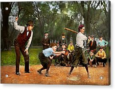 Sport - Baseball - Strike One 1921 Acrylic Print by Mike Savad