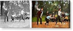Sport - Baseball - Strike One 1921 - Side By Side Acrylic Print by Mike Savad