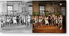 Acrylic Print featuring the photograph Sport - Boxing - Fists Of Fury 1924 - Side By Side by Mike Savad