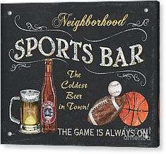 Sports Bar Acrylic Print by Debbie DeWitt