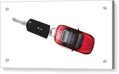 Sports Car Key Acrylic Print