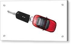 Sports Car Key Acrylic Print by Jorgo Photography - Wall Art Gallery