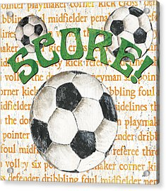 Sports Fan Soccer Acrylic Print by Debbie DeWitt