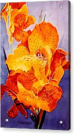 Spotted Canna Acrylic Print by M Diane Bonaparte