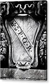 Spqr Acrylic Print by Joana Kruse