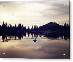 Sprague Lake At Sunset Acrylic Print