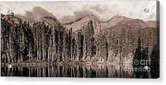 Acrylic Print featuring the photograph Sprague Lake Morning by Thomas Bomstad