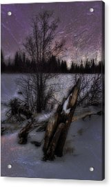 Sprague Lake Winter Dream Acrylic Print by Ellen Heaverlo