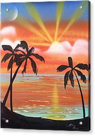 Spray Art Acrylic Print by Lane Owen