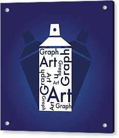 Graph Art Spray Can Acrylic Print by Sheila Mcdonald