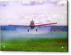Spraying The Fields - Crop Duster - Aviation Acrylic Print by Jason Politte
