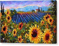 Acrylic Print featuring the painting Spread A Little Sunshine by Chris Brandley