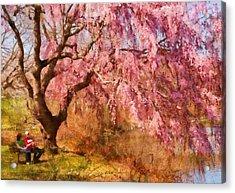Spring - Sakura - A Beautiful Spring Day  Acrylic Print by Mike Savad