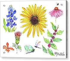 Spring 2017 Medley Watercolor Art By Kmcelwaine Acrylic Print