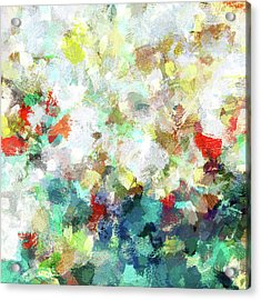 Acrylic Print featuring the painting Spring Abstract Art / Vivid Colors by Ayse Deniz