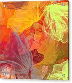 Spring Abundance - Spring Colors Abstract Art Acrylic Print by Lourry Legarde