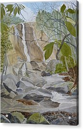 Spring Afternoon At The Falls Acrylic Print
