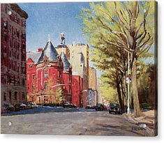 Spring Afternoon, Central Park West Acrylic Print by Peter Salwen
