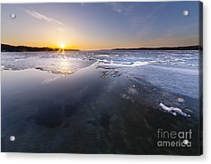 Spring Around The Corner On Crystal Lake Acrylic Print by Twenty Two North Photography