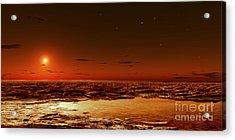 Spring Arrives Near The Martian Polar Acrylic Print by Frank Hettick