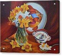 Spring Art Deco Acrylic Print