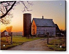 Spring At Birch Barn Acrylic Print