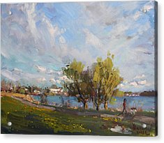 Spring At Gratwick Waterfront Park Acrylic Print by Ylli Haruni