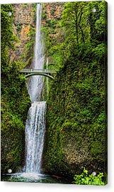 Spring At Multnomah Falls Acrylic Print
