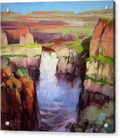 Spring At Palouse Falls Acrylic Print