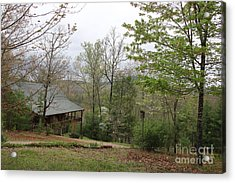 Spring At The Mountain Cabin Acrylic Print by Marilyn Carlyle Greiner
