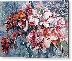 Acrylic Print featuring the painting Spring Beauty by Kovacs Anna Brigitta