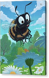 Spring Bee Acrylic Print by Martin Davey