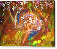 Acrylic Print featuring the painting Spring Blossom by Winsome Gunning