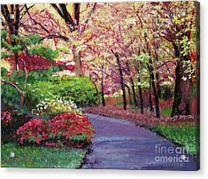 Spring Blossoms Impressions Acrylic Print