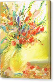 Acrylic Print featuring the painting Spring Bouquet by Frances Marino