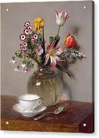 Spring Bouquet Acrylic Print by Ignace Henri Jean Fantin-Latour