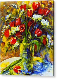 Acrylic Print featuring the painting Spring Bouquet by Marta Styk