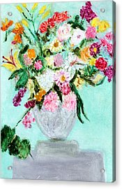 Spring Bouquet Acrylic Print by Michela Akers