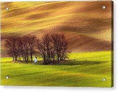 Spring Chapel Acrylic Print by Piotr Krol (bax)