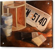 Acrylic Print featuring the painting Spring Cleaning by Rachel Hames