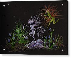 Acrylic Print featuring the drawing Spring Conflicts by Dawn Fairies