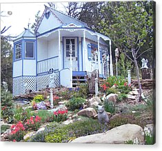 Spring Cottage Acrylic Print by P Maure Bausch