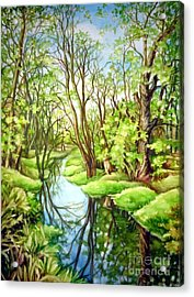 Spring Creek Acrylic Print by Inese Poga