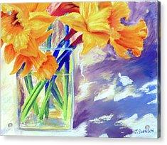 Spring Daffodils Acrylic Print by Joan Swanson