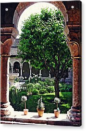 Spring Day At The Cloisters 2 Acrylic Print by Sarah Loft
